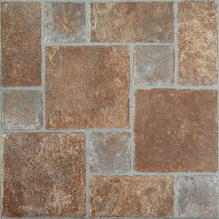 - Achim Nexus Brick Pavers 12x12 Self Adhesive Vinyl Floor Tile - 20 Tiles/20 sq. ft.