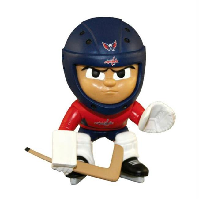 Party Animal PAR-LHG2CAP Washington Capitals NHL Lil Teammates Vinyl Goalie Sports Figure - 2 3-4 Tall - Series 2