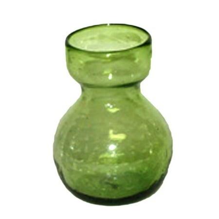 Homart Recycled Glass Bulb Vase Green 1 Count Walmart