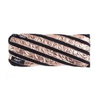 ZIPIT Metallic Pencil Case / Cosmetic, Makeup Bag, Silver