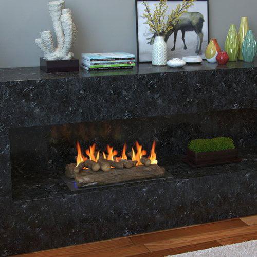 Regal Flame 6 Piece 22'' Oak Ceramic Gas Fireplace Log Set
