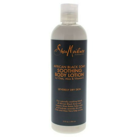 Shea Moisture African Black Soap, Soothing Body Lotion 13 oz (Pack of