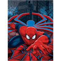 "Disney Pixar SPIDERMAN Twin Soft Plush Raschel Throw Blanket  60"" x 80"""