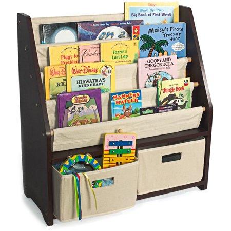 wonkawoo little bookworm sling bookshelf espresso. Black Bedroom Furniture Sets. Home Design Ideas