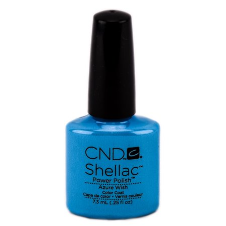 CND Shellac Power Polish Color Coat - Color : Azure (Azure Onyx)