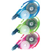Tombow, TOM68662, Mono Correction Tape 3-pack Refill, 3 / Pack, Assorted,Blue,Green