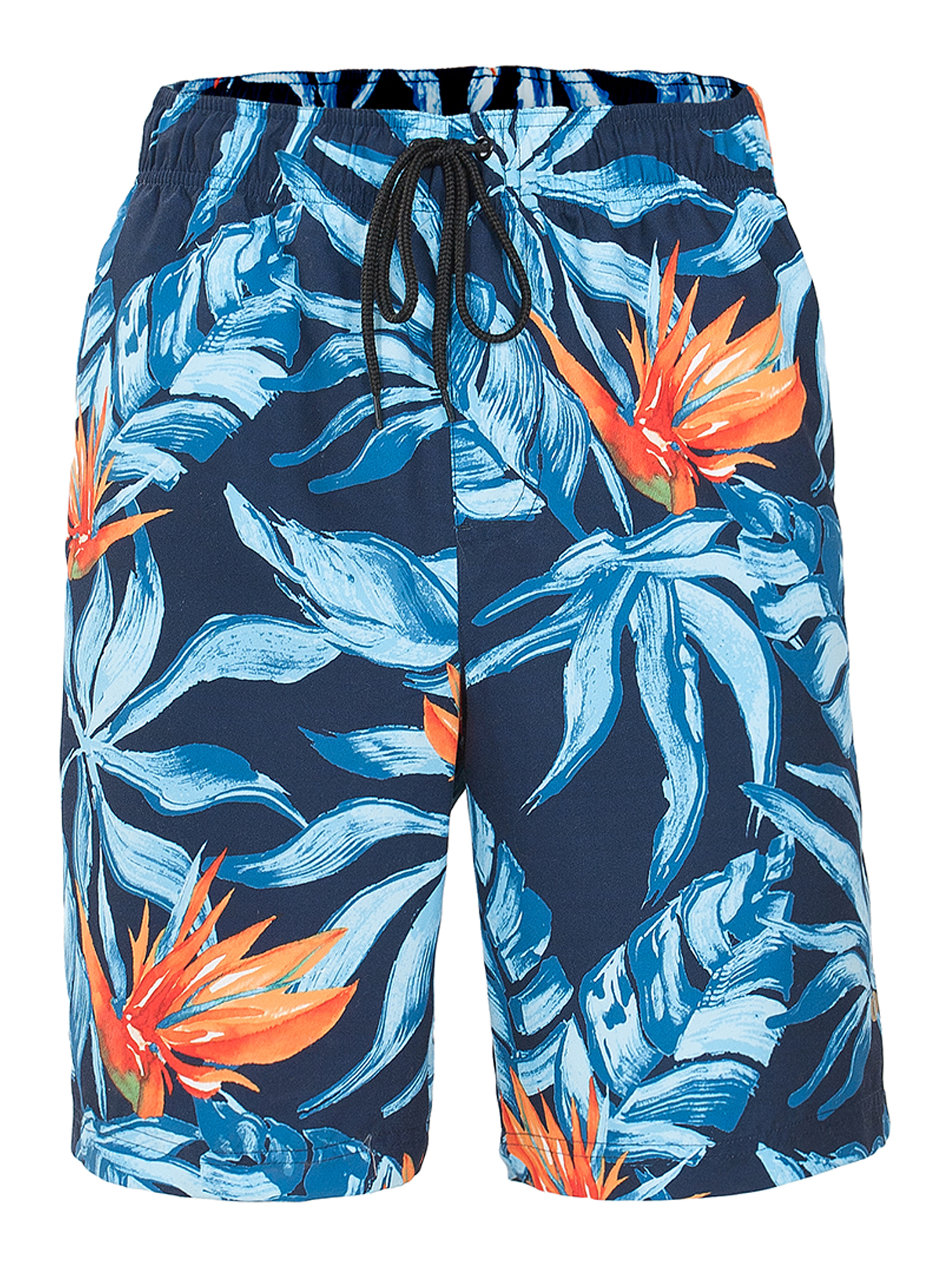 Womens Print Beach Shorts with Pockets Quick Dry Boardshort Swimming Trunks Tropical Short Jungle Bird