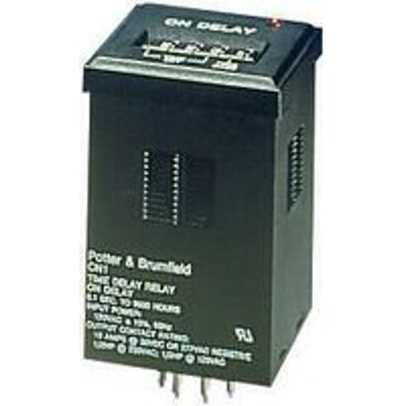 TE CONNECTIVITY / POTTER & BRUMFIELD CN1 TIME DELAY RELAY, DPDT, 9990H, 120VAC