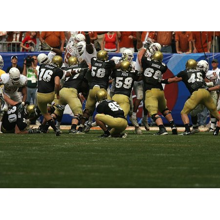 Canvas Print Field Goal Team Action Kick American Football Stretched Canvas 10 x