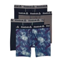 4-Pack Reebok Men's Performance Regular Leg Boxer Briefs
