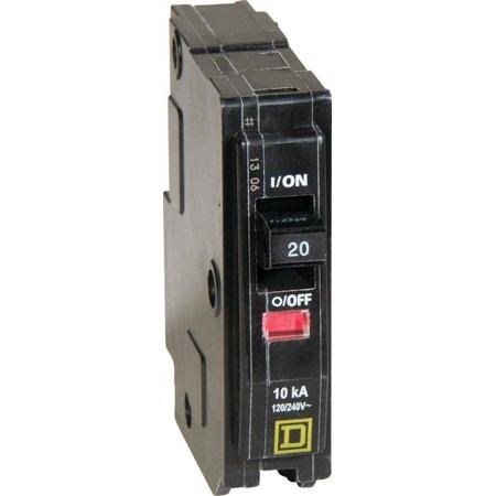 Square D Breaker - Square D QO120CP Type QO Standard Circuit Breaker, 120/240 VAC, 48 VDC, 20 A, 1 P, 10 kA