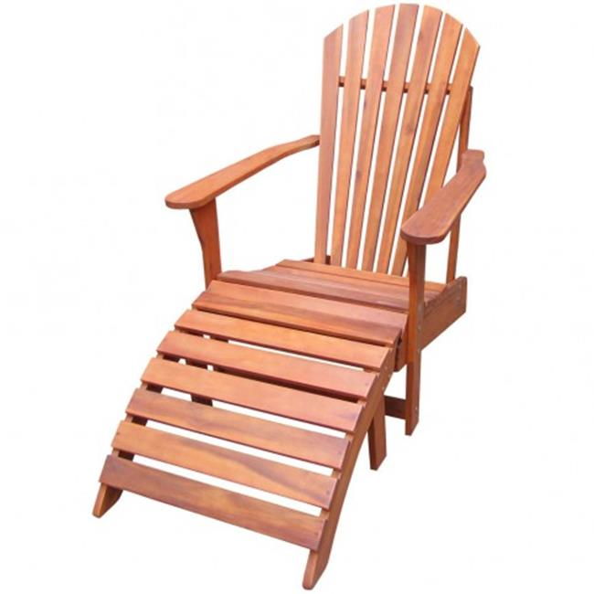 Intenational Concepts K-53931-32 Set of 2 pcs - Adirondack chair with footrest  Oiled