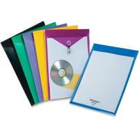 Pendaflex, PFX52888, Viewfront Poly Envelopes, 1 Each, Blue,Black,Yellow,Purple,Green,Magenta