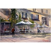 "Trademark Art ""Dining Alfresco"" Canvas Art by Ryan Radke"