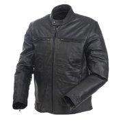 Mossi Cruiser Men'S Premium Leather Jacket (Black, Size 40)