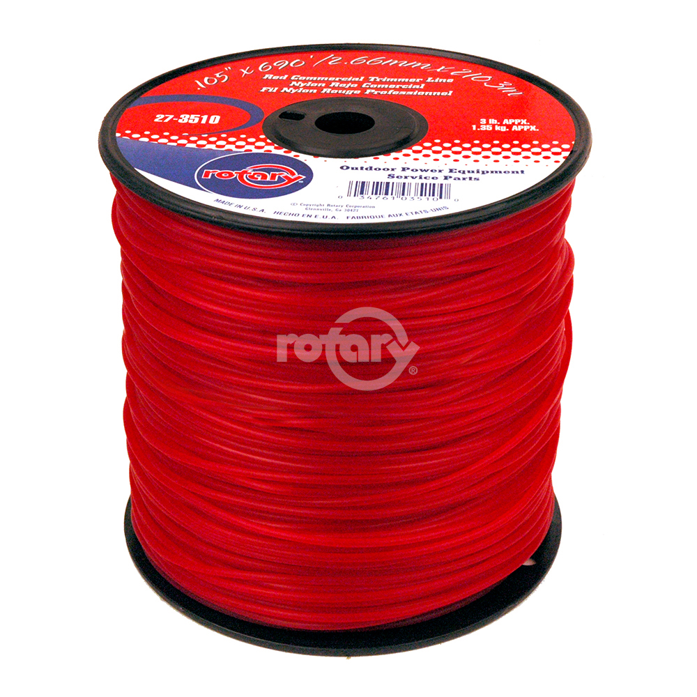 Trimmer Line .105 3# Spool Red Commercia
