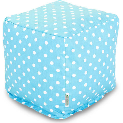 Majestic Home Goods Small Polka Dot Bean Bag Cube