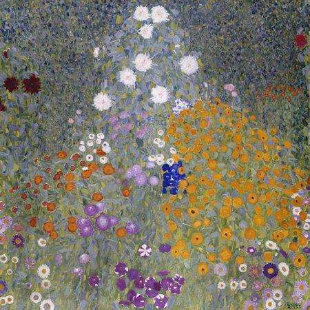 - Flower Garden (Bauerngarten). 1905-07 Botanical Fine Art Painting Print Wall Art By Gustav Klimt