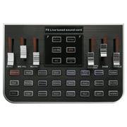Studio Audio Mixer Microphone Excellent Quality Voice Music Professional Audio USB Headset Webcast Entertainment Karaoke Steamer Live Sound Card F8 4 Modes