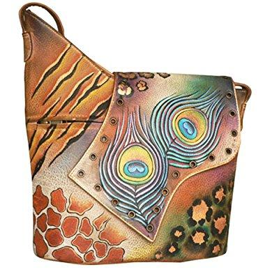 Anuschka hand painted genuine leather cross body sling sh...
