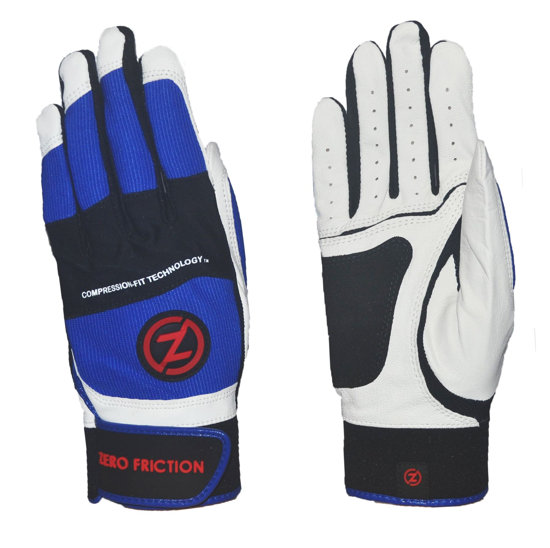 Zero Friction Men's Cabretta Batting Gloves, White