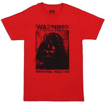 Star Wars Warning Choking Hazard Adult T-shirt  (Large)  W29