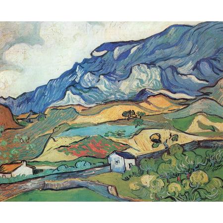 Framed Art for Your Wall Gogh, Vincent Willem van - Les Alpilles, mountain landscape at Saint -Remy 10 x 13 Frame ()