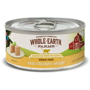 Whole Earth Farms Grain Free Real Chicken Canned Cat Food, 2.75 oz., Case of 24