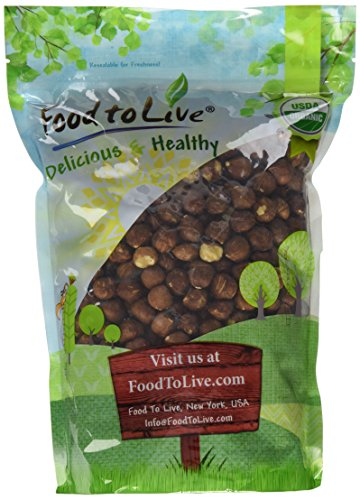 Food To Live Organic Hazelnuts   Filberts (Raw, No Shell) (2 Pounds) by Food To Live
