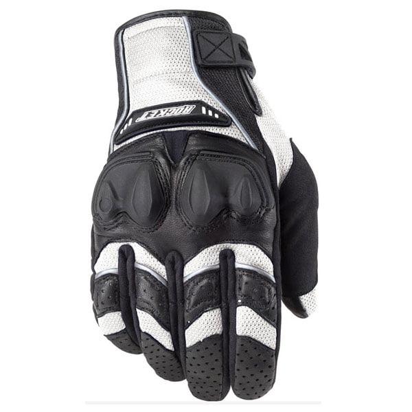 Joe Rocket Phoenix 4.0 Mens White Leather/Textile Motorcycle Gloves