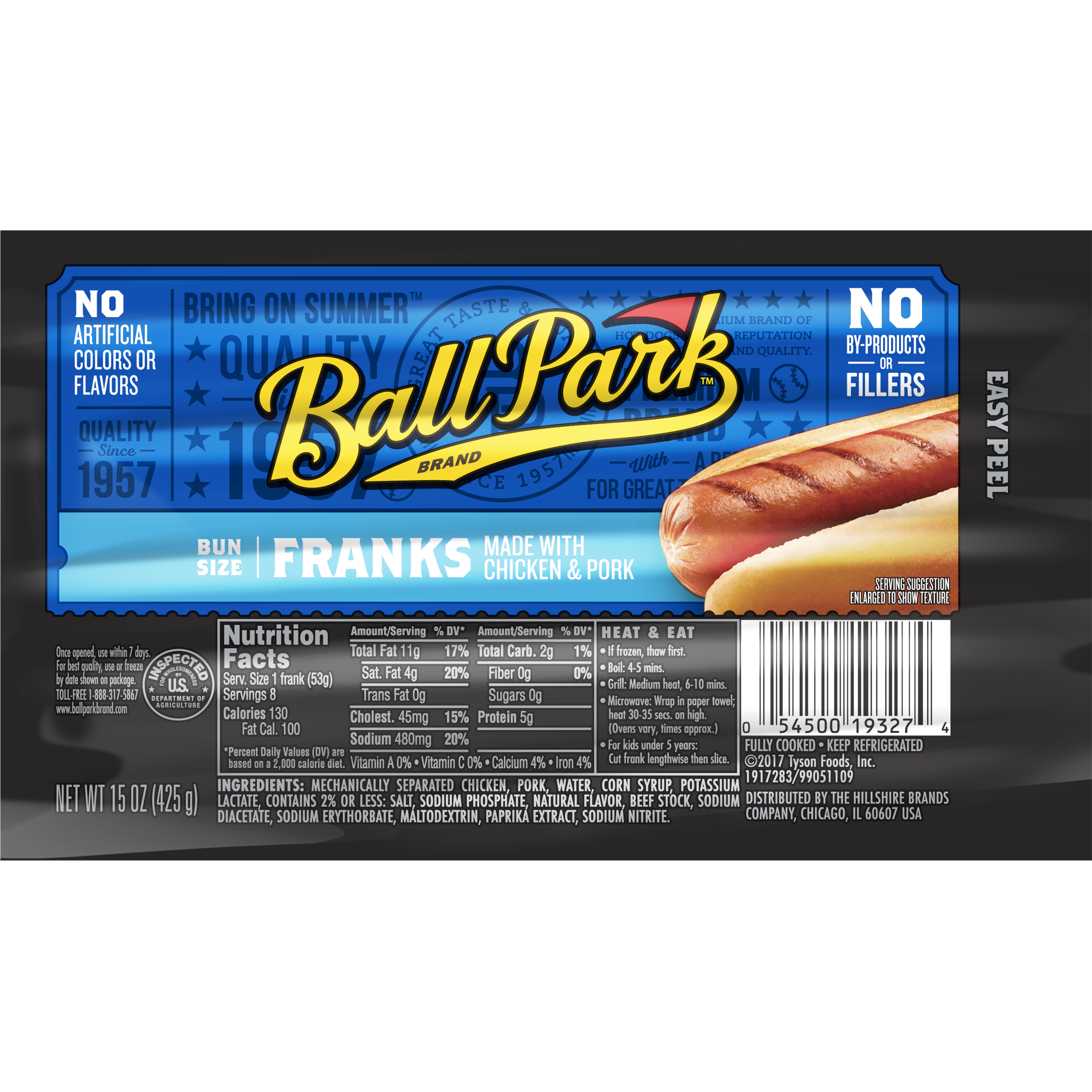 Ball Park® Classic Franks, Bunsize Length, 8 Count