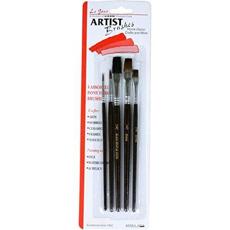 5-Pc. Artist Paint Brush Set, 1/2