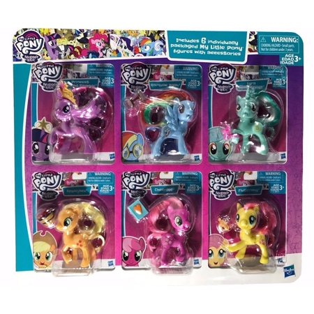 My Little Pony Friendship Magic 6 Individually Packaged Figures with Accessories (My Little Poney)