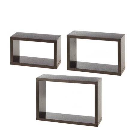 Zingz and thingz rectangle cube shelves set of 3 - Cube wall decor ...