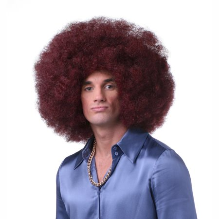 Sepia Costume Color Afro Synthetic Wig Burgundy