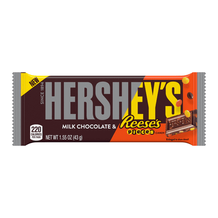 Hershey's, Milk Chocolate with Reese's Pieces Candy Bar, 1.55 Oz
