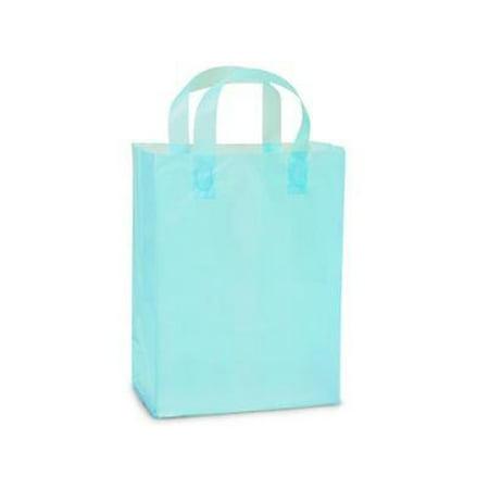 1 Unit Carrier Aqua Plastic Bags Bulk 3 Mil Shopping Bags 9X5x12  Unit Pack 100
