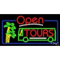 Tours Open LED Sign (High Impact, Energy Efficient)