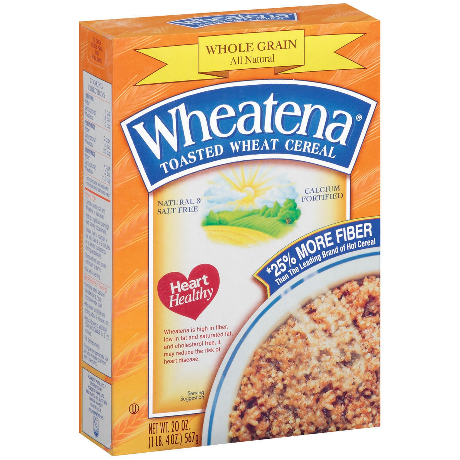Wheatena Toasted Wheat Cereal, 20 Oz