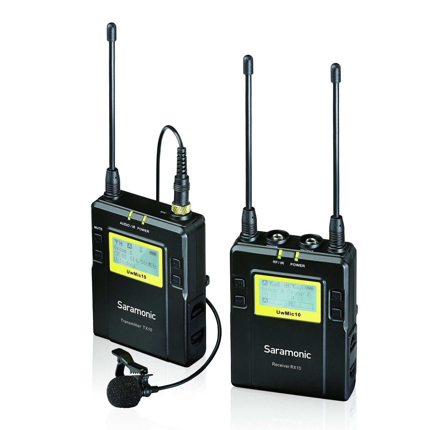 Saramonic TX10 + RX10 96-Channel Digital UHF Wireless Lavalier Microphone System with... by
