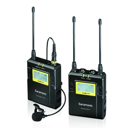 Saramonic TX10 + RX10 96-Channel Digital UHF Wireless Lavalier Microphone System with Bodypack Transmitter, Portable Receiver and 3.5mm/XLR Outputs
