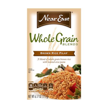 Near East Whole Grain Blends Brown Rice Pilaf 6 oz Boxes - Pack of 12