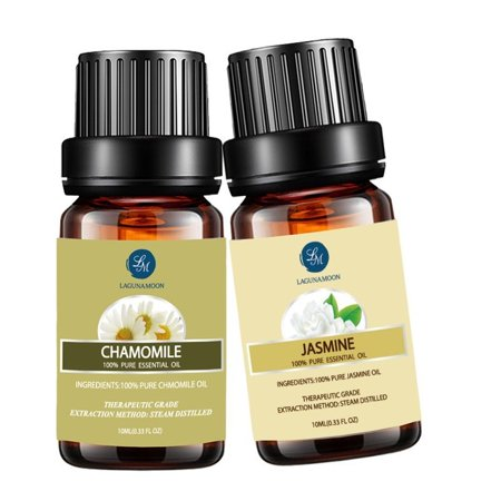 Jasmine Chamomile Essential Oil 10Ml Natural Pure Aromatherapy Oils Therapeutic Grade  Value 2 Pack