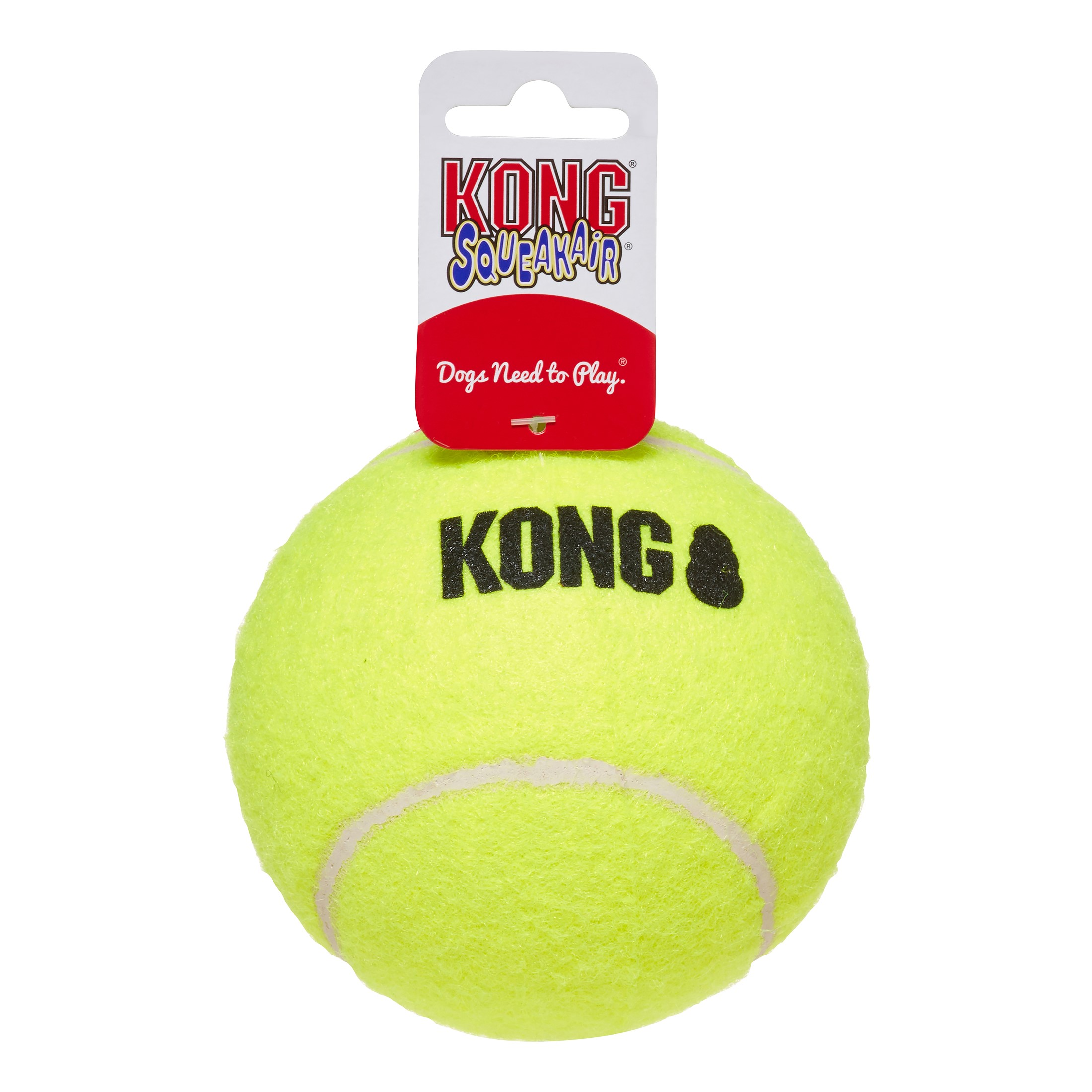 KONG Airdog Squeaker Ball Dog Toy Yellow, Extra Large