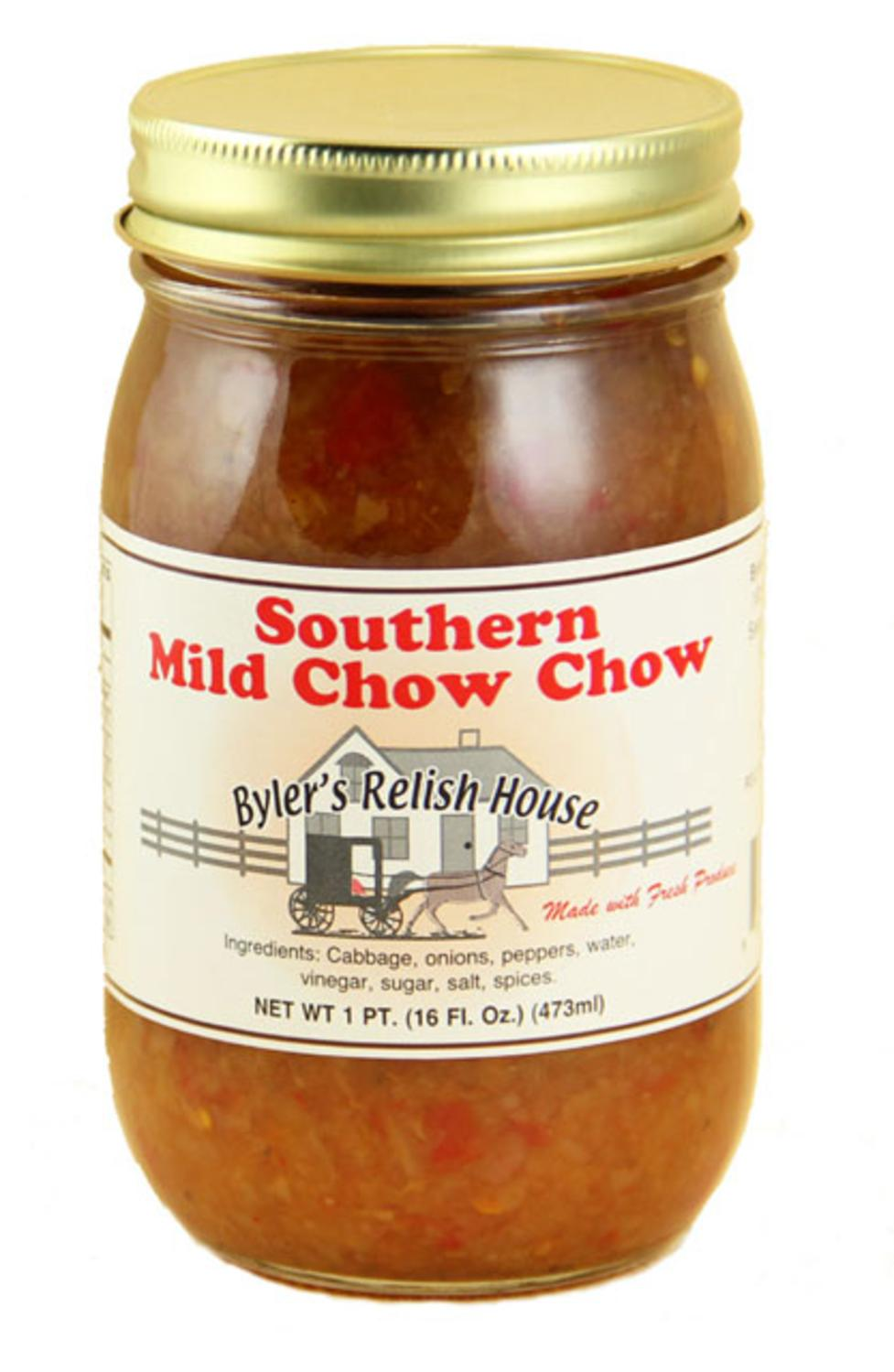 Byler's Relish House Homemade Amish Country Southern Mild Chow Chow 16 oz. by Byler's Relish House