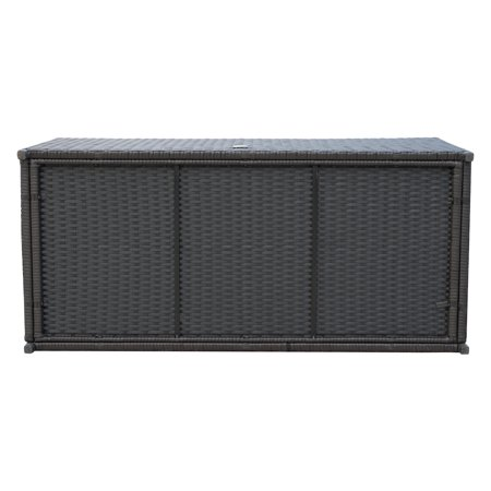 47x21x23inch Outdoor Garden Rattan Storage Box Wicker Home Furniture Indoor Storing Unit with Lid Coffee - image 7 of 7