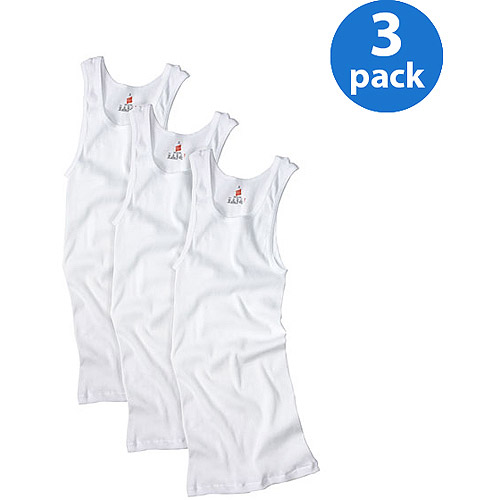 Hanes Big Mens ComfortSoft White Tagless Tank 3-Pack