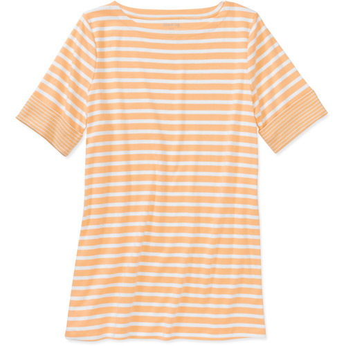 White Stag Women's Boat Neck Colorblock Tee