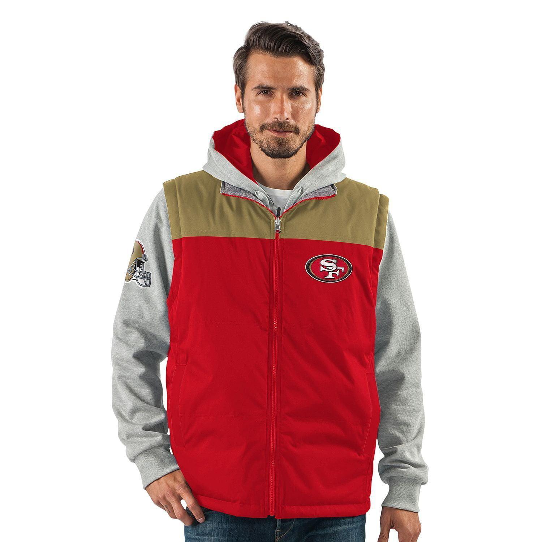 San Francisco 49ers 5-in-1 Reversible Vest Fleece Full Zip Jacket by G-III Sports