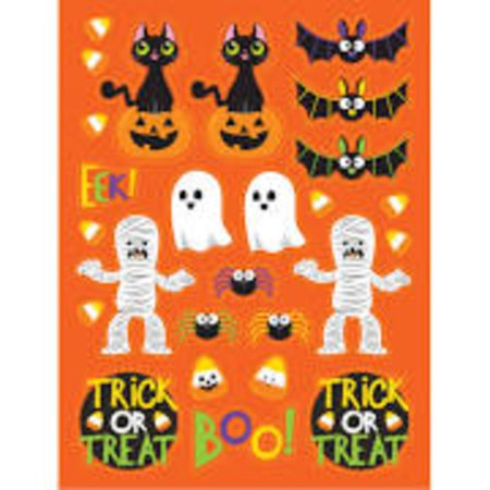 Club Pack of 48 Assorted Halloween Spooky Friends Party Favor Stickers 6
